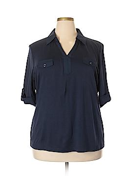 Karen Scott 3/4 Sleeve Blouse Size 2X (Plus)