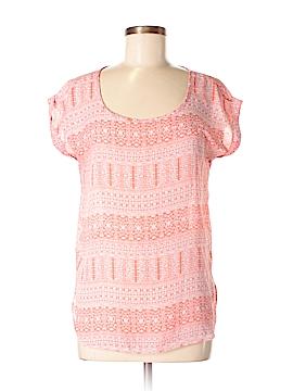 Pink Rose Short Sleeve Blouse Size M