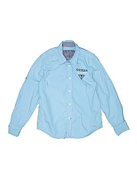 Guess Long Sleeve Button-Down Shirt Size 8 - 10
