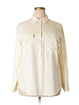 GO Long Sleeve Silk Top Size 1X (Plus)