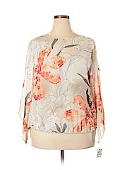 Alfani Women Long Sleeve Blouse Size 1X (Plus)