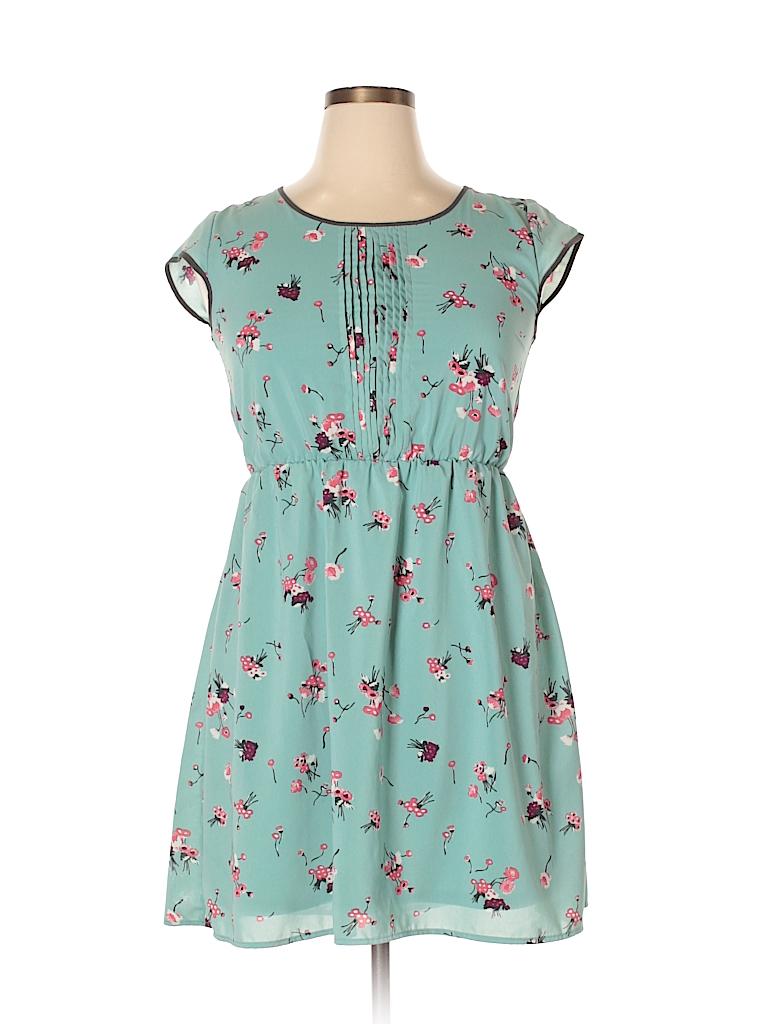 360c1ff8e Xhilaration Floral Blue Casual Dress Size XL - 50% off | thredUP