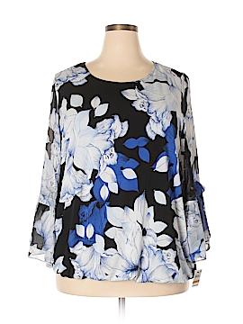 Alfani 3/4 Sleeve Button-Down Shirt Size 3X (Plus)