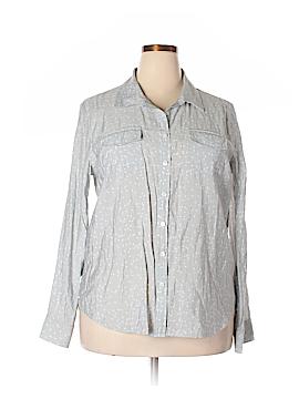 Van Heusen Long Sleeve Blouse Size XXL