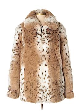Dennis Basso Faux Fur Jacket Size S