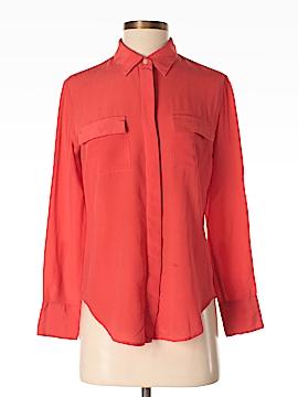 Madewell Long Sleeve Silk Top Size S