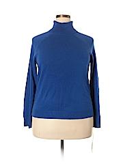 Karen Scott Women Turtleneck Sweater Size 2X (Plus)