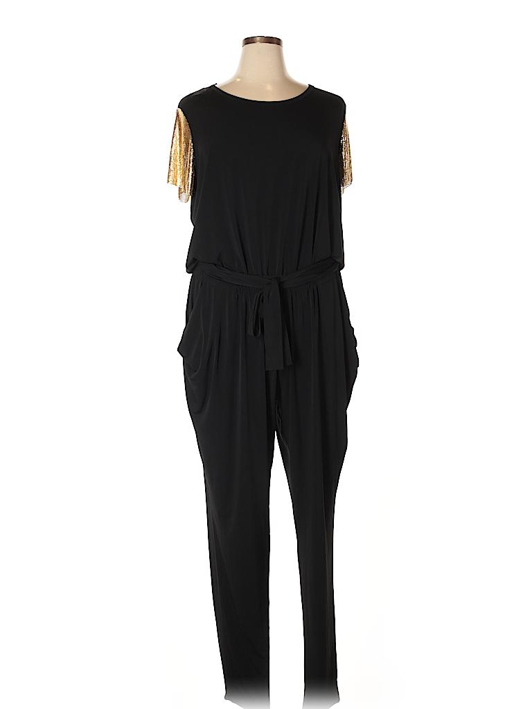 e2e57d9e41c MICHAEL Michael Kors Metallic Black Jumpsuit Size 2X (Plus) - 74 ...