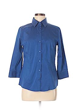 New Balance Long Sleeve Button-Down Shirt Size M