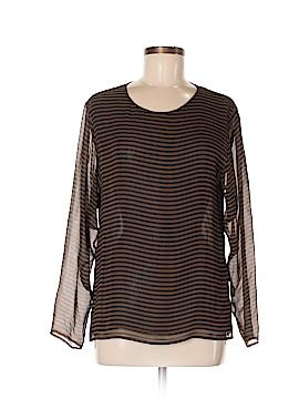 Bloomingdale's Long Sleeve Silk Top Size 6