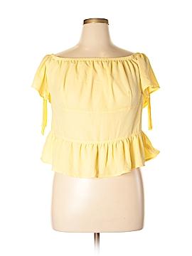 Disney Short Sleeve Blouse Size 1X (Plus)