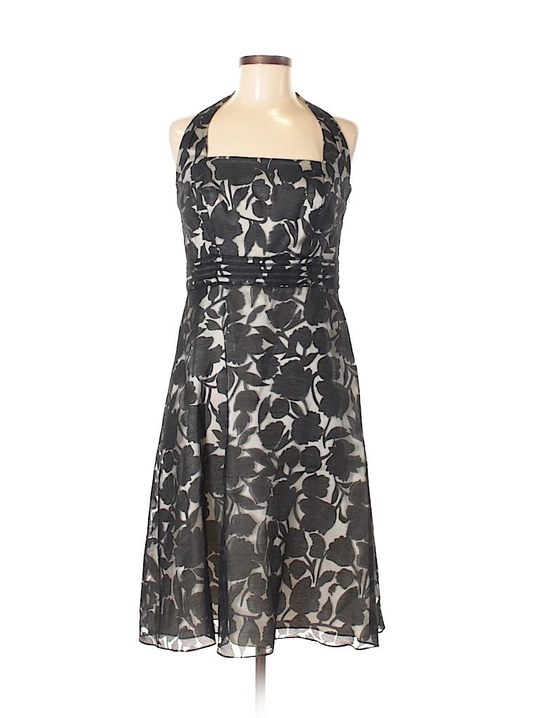 Ann Taylor Floral Black Cocktail Dress Size 6 - 83% off | thredUP