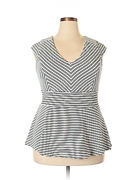 City Chic Short Sleeve Top Size 16 Plus (S) (Plus)
