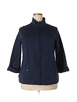 Karen Scott Sport Track Jacket Size 0X (Plus)