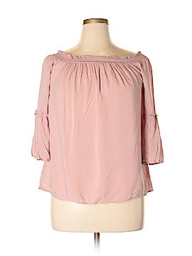 Hippie Rose 3/4 Sleeve Blouse Size XL