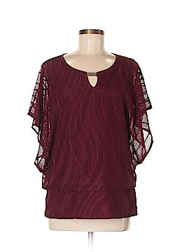 JM Collection Short Sleeve Top Size M