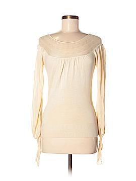 Arden B. Long Sleeve Silk Top Size XS