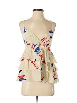 We Love Vera Sleeveless Silk Top Size 2