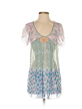 Antik Batik Short Sleeve Silk Top Size XS
