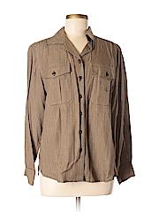 Lauren by Ralph Lauren Women Long Sleeve Button-Down Shirt Size 12 (Petite)