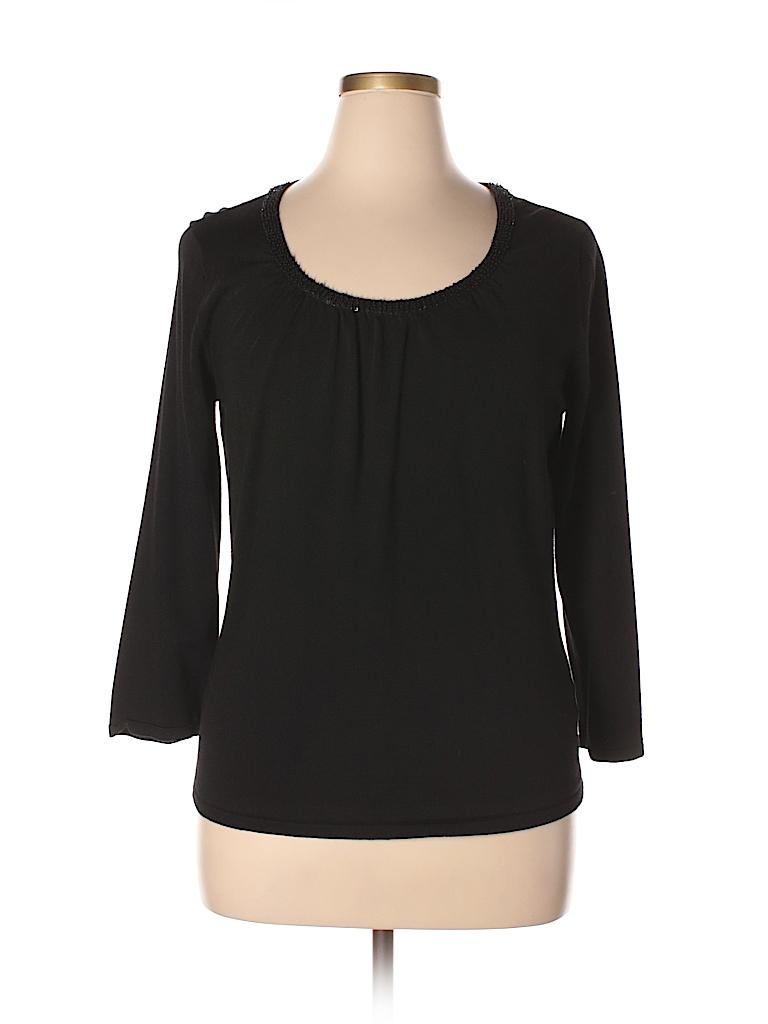 Jones New York Collection Women Long Sleeve Top Size XL