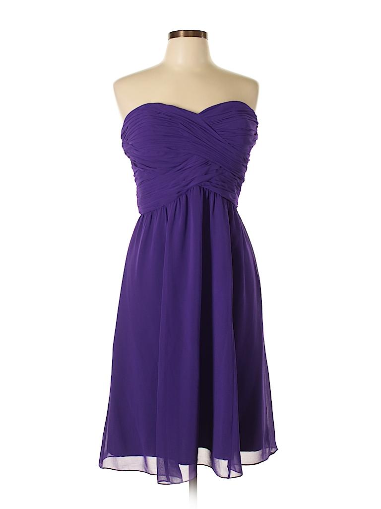 Lauren by Ralph Lauren 100% Polyester Solid Dark Purple Cocktail ...