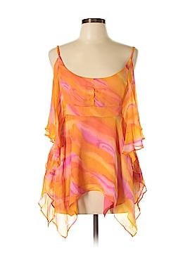 Andrea Behar Short Sleeve Silk Top Size 10