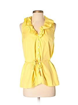 Lauren Jeans Co. Sleeveless Button-Down Shirt Size S