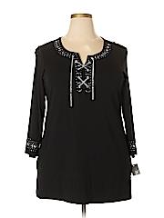 JM Collection Women 3/4 Sleeve Top Size 1X (Plus)