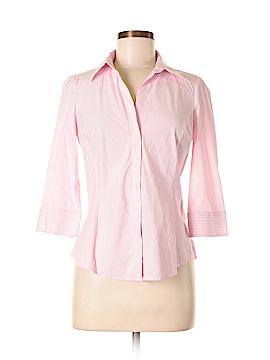 Express Design Studio 3/4 Sleeve Button-Down Shirt Size S