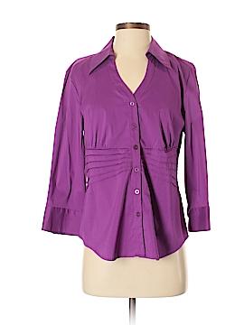 Alfani Long Sleeve Button-Down Shirt Size S