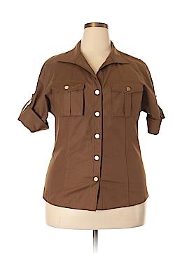 Lafayette 148 New York Short Sleeve Blouse Size 14