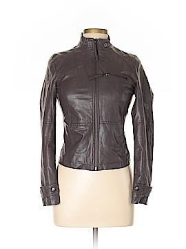 Sisley Faux Leather Jacket Size 4