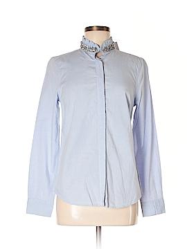 Elle Long Sleeve Button-Down Shirt Size 8