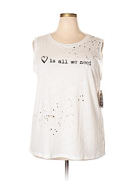 RACHEL Rachel Roy Sleeveless T-Shirt Size 2X (Plus)