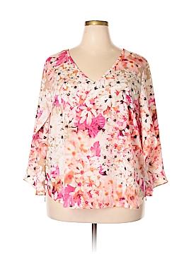 Calvin Klein 3/4 Sleeve Blouse Size 0X (Plus)