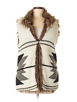Bar III Faux Fur Vest Size S