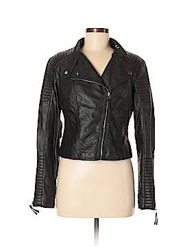 Celebrity Pink Faux Leather Jacket Size L