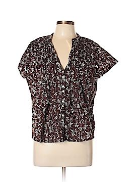 G.H. Bass & Co. Short Sleeve Button-Down Shirt Size L