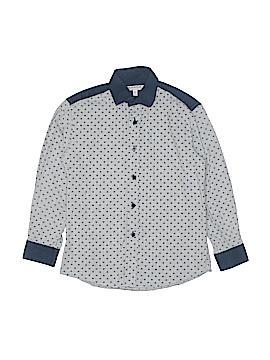 Isaac Mizrahi Long Sleeve Button-Down Shirt Size 8
