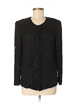 Lawrence Kazar Silk Cardigan Size M