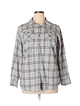 IZOD Long Sleeve Button-Down Shirt Size XL