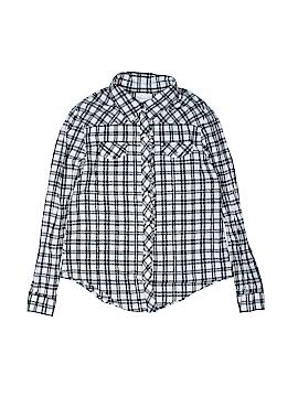 Xhilaration Long Sleeve Button-Down Shirt Size 8