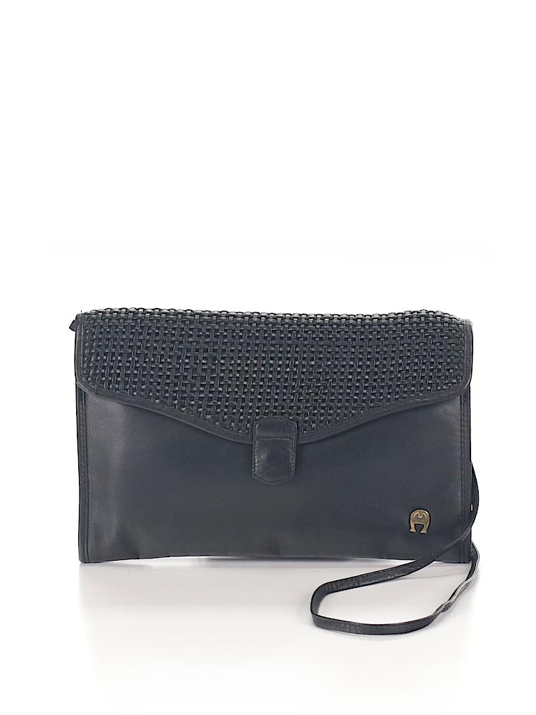 ad8c64bfa1ff Etienne Aigner Solid Black Shoulder Bag One Size - 67% off