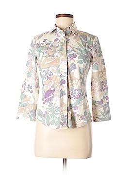 Linda Allard Ellen Tracy 3/4 Sleeve Button-Down Shirt Size 2 (Petite)