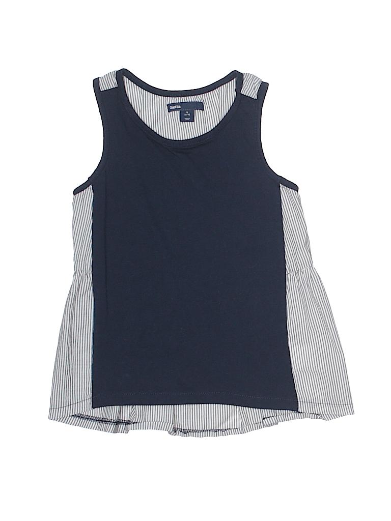 fbbdf743923b2 Gap Kids 100% Cotton Stripes Navy Blue Sleeveless Top Size 6 7 - 70 ...