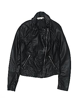 Abercrombie Faux Leather Jacket Size L (Kids)