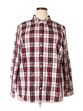Charter Club Long Sleeve Button-Down Shirt Size 16