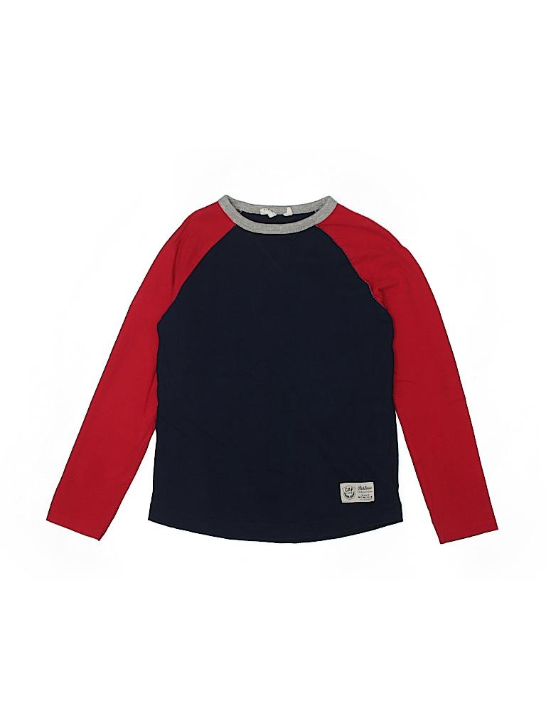 86529eecea9b Gap Kids 100% Cotton Graphic Color Block Dark Blue Long Sleeve T ...