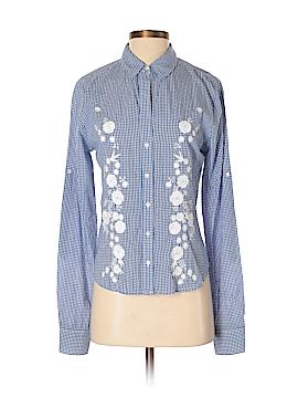 Creme Fraiche Long Sleeve Button-Down Shirt Size S